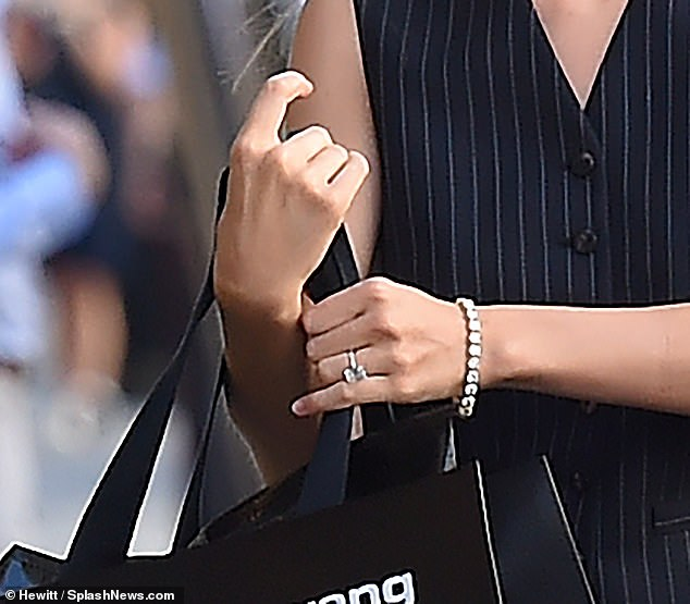 What a rock: the beauty's engagement ring cost £ 350k
