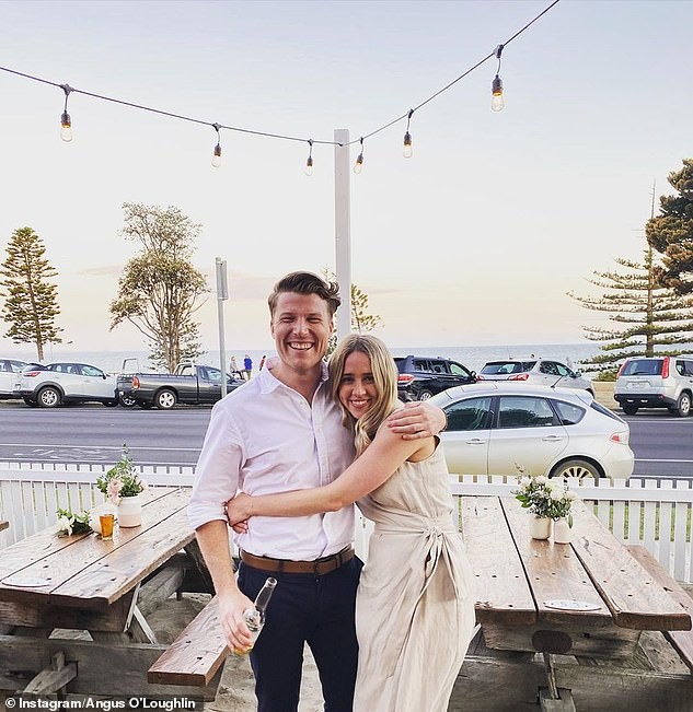 Challenges: Angus also explained that the stage four lockdown in Melbourne, where the couple are based, has made the experience difficult as they are apart from their families who are in New South Wales