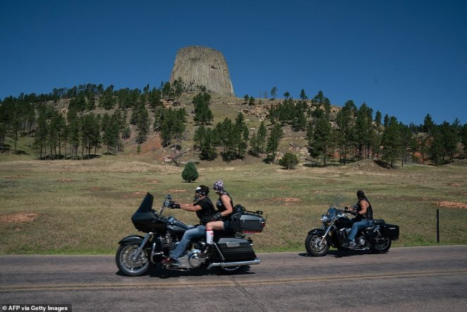 An estimated 250,000 people gather in South Dakota before heading out to explore the region