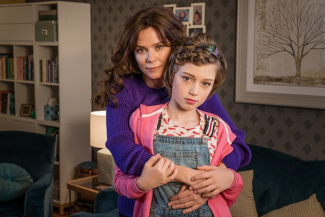 The suggested link may reignite controversy over British programmes including the ITV drama Butterfly. Inspired by the pro-trans charity Mermaids, it was accused of encouraging families to push children towards gender-change treatment.Anna Friel and Callum Booth-Ford are pictured above in ITV¿s Butterfly