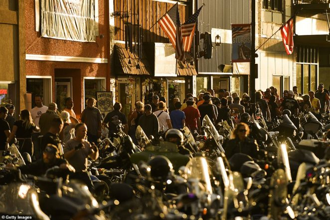 Crowds of 250,000 people attended the 10-day motorcycling festival in Sturgis, South Dakota