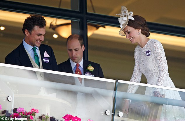 Prince William has known Mr. Van Straubenzee from a childhood when he attended Ludgrove School in Berkshire.  They are pictured with Kate Middleton in 2016 at Ascot Racecourse