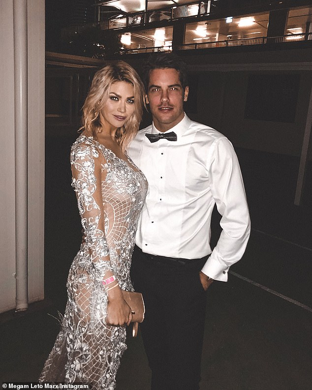 Officially back together? Bachelor in Paradise star Jake Ellis, 34, enjoyed a night in with ex-girlfriend Megan Marx (both pictured), 31, and their friends on Saturday, after he quit the show to give things another chance