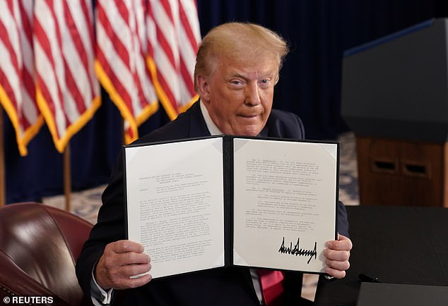 President Donald Trump took unilateral action Saturday to provide economic relief after Capitol Hill negotiations on another coronavirus stimulus package collapsed last week
