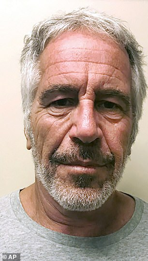 It is claimed that Ms Tayler flew on Epstein's (pictured) 'Lolita Express' at the same time he was alleged to have been trafficking girls