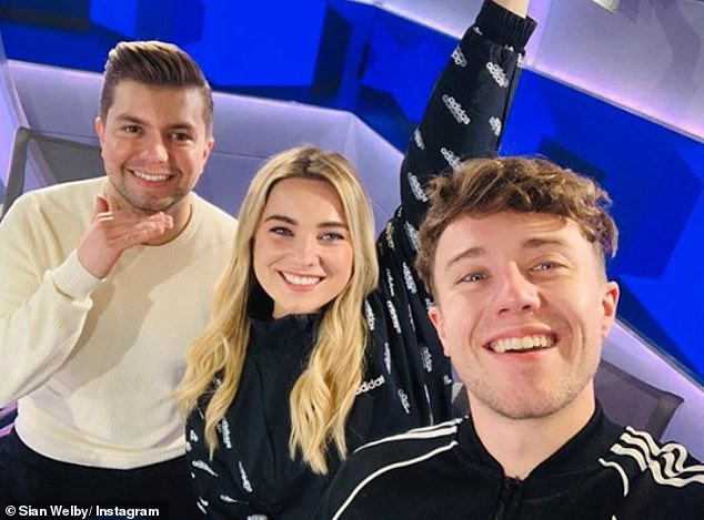 Devastated: The radio host, 27, and his co-stars Sian Welby and Sonny Jay  (all pictured) came off air mid-way through their radio show on Tuesday after learning the heartbreaking news