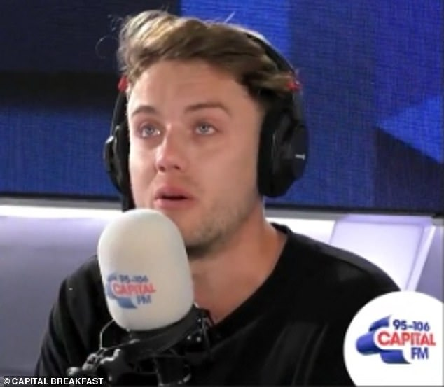 'He was our best mate': Roman broke down in tears live on air on Monday as he returned to work following the sad news