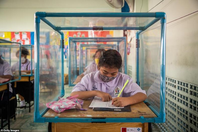 When the school was forced to shutter its doors in mid March due to Thailand's emergency decree and lockdown, the administration and teachers prepared measures to ensure a safe reopening