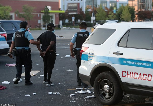 Police officers were still arresting people on Monday morning, hours after the looting began. It's unclear what triggered the looting; earlier in the day, residents of a South Side neighborhood gathered in protest after being told, incorrectly, that police had shot a child. They'd in fact shot a suspect who had opened fire on them and the suspect is still alive