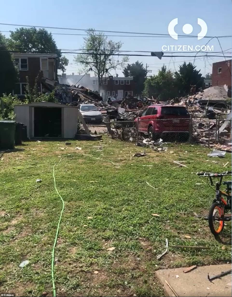 Three victims in a critical condition were pulled from the rubble by firefighters a short time later, with one person later pronounced dead at the scene