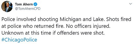 There were multiple incidents of cops coming under fire throughout the night