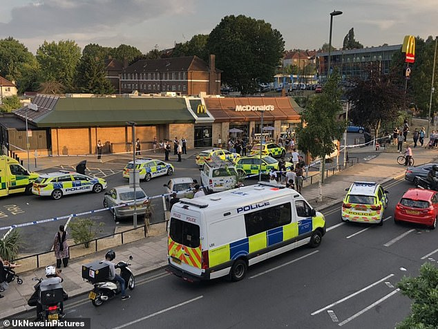 About eight police cars attended the scene alongside paramedics and the air ambulance