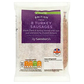 Turkey sausages from Sainsbury's