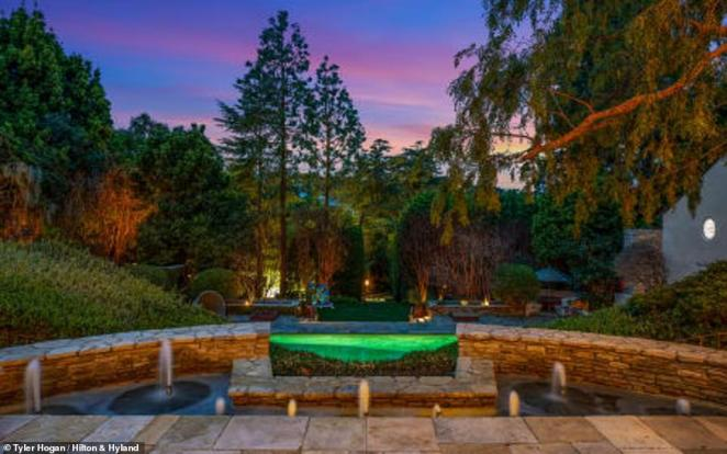 Sterling pedigree: Danny DeVito used to live next door, and the heiress and philanthropist Wallis Annenberg previously owned the home