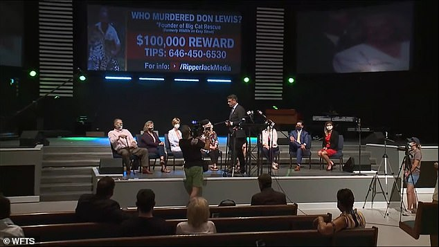 The Lewis family took part in a press conference in August at Riverhills Church of God in Tampa, Florida