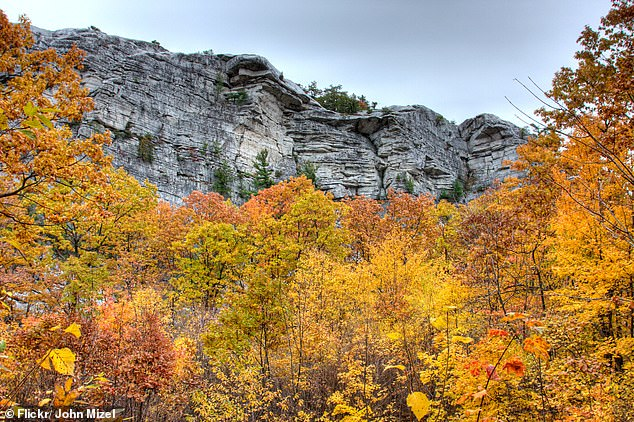 She had beenclimbing in the area of the Trapps Trailhead (above) at the Mohonk Mountain Preserve in Gardiner