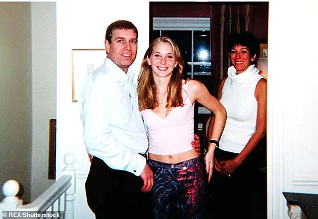 In 2014 Giuffre named Dershowitz as one of several prominent men she was forced to have sex with, including Britain's Prince Andrew (pictured together with Ghislaine Maxwell), who also denies the allegations