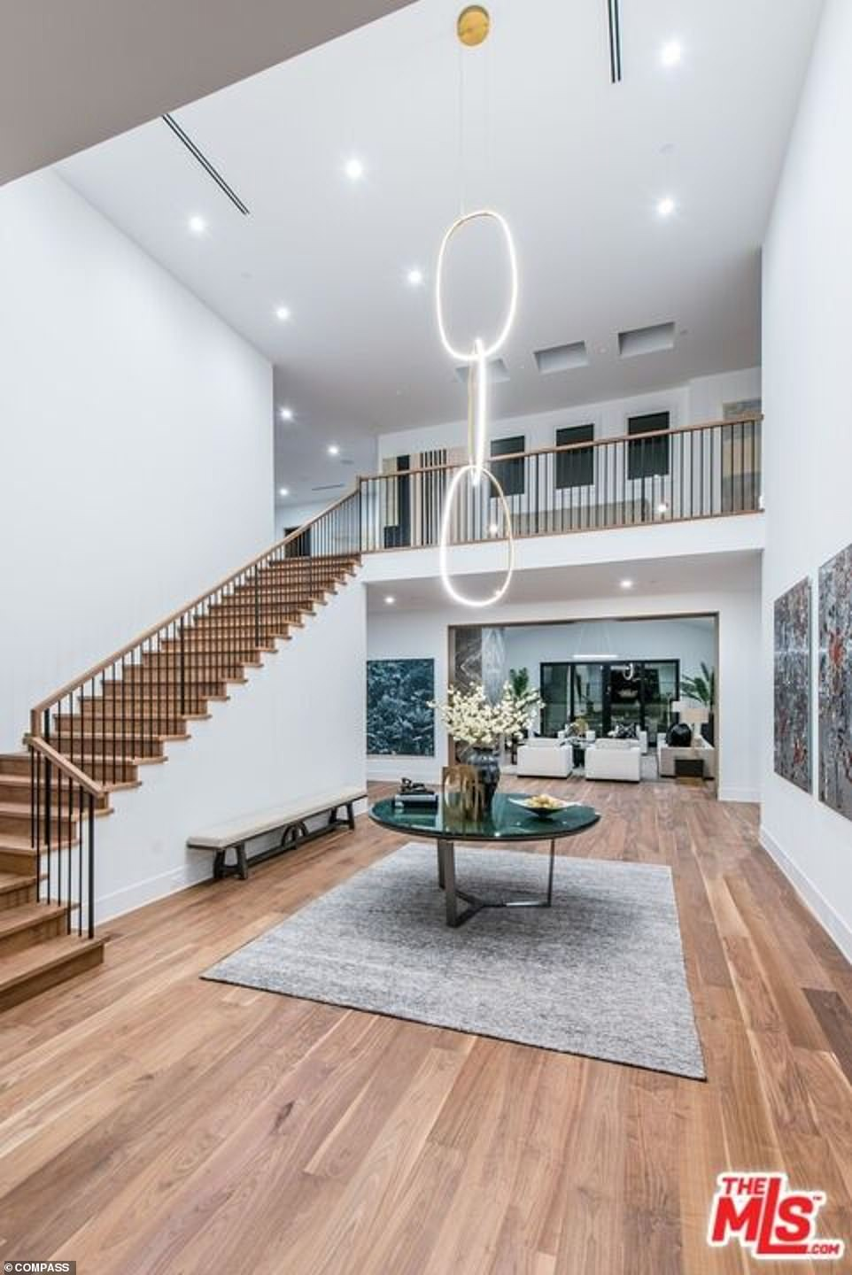 So much space: The entry way shows off an impressive stair case and light features