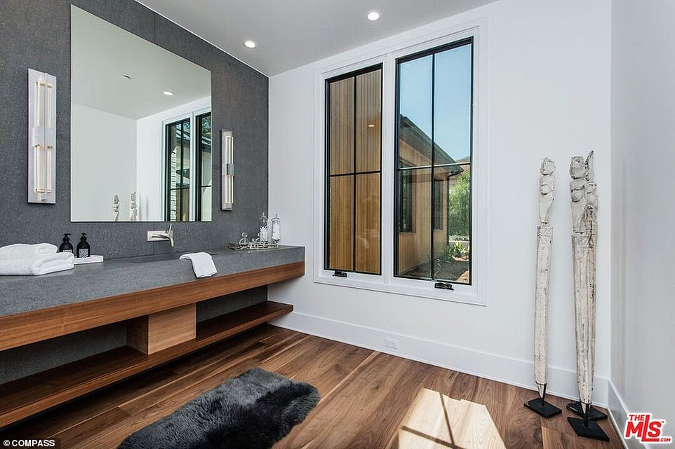 Ultra modern: This stylish bathroom is just one of nine