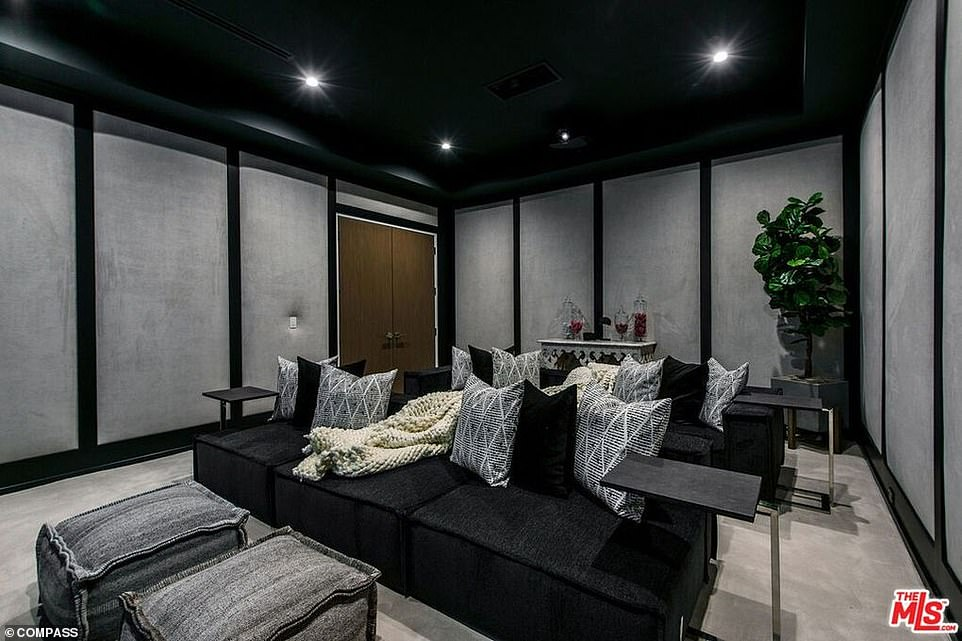 Entertaining: There is also a home theatre in the property