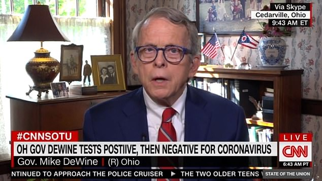 Republican Governor Mike DeWine of Ohio said his state was still looking into whether it could afford the $100 a week contribution