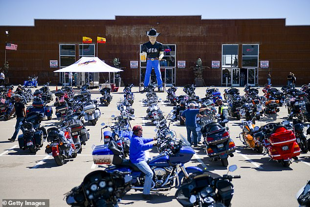 An estimated 250,000 bikers have descended on Sturgis, South Dakota for the rally