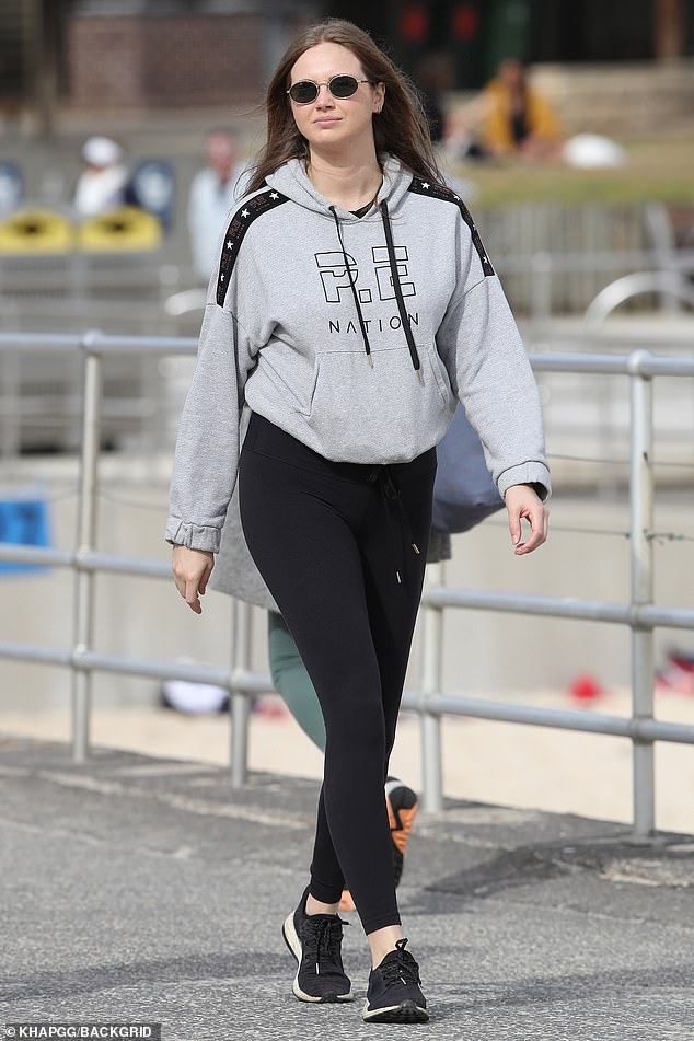 Former E! Star Ksenija Lukich looks radiant at Bondi Beach