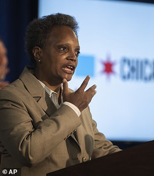 Pictured: Chicago Mayor Lori Lightfoot