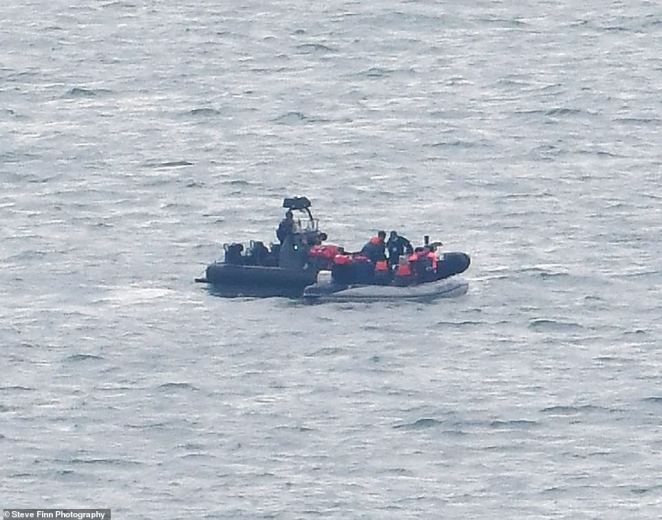 At least four migrant boats were spotted in the Channel today, although the exact number making the crossing has yet to be confirmed
