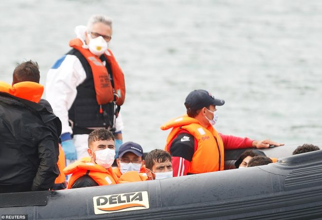 It is unclear how many migrants made the crossing today, though Sky News and other observers noted at least four boats