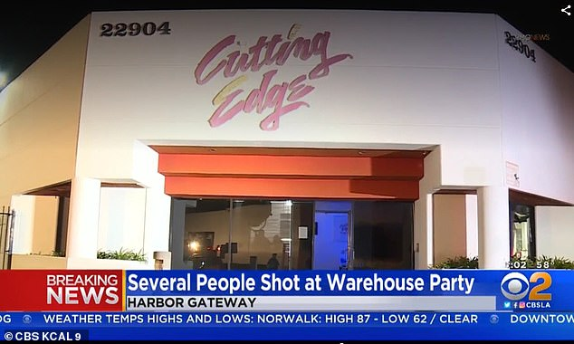 The shooting occurred at Cutting Edge Productions, a film studio that is also known to host private parties