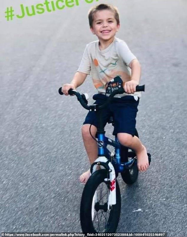 Cannon Hinnant, 5,was riding his bike in front of his father's house in Wilson on Sunday when Sessoms approached and shot him in the head. The motive has not been released