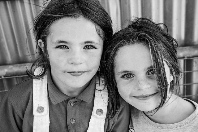 Two young Irish traveller girls pose in this picture taken by US-based photographer Jamie Johnson, who spent five years gaining the trust of a group of traveller communities in Ireland
