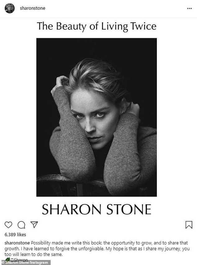 Here it is!Sharon Stone has shared the cover for her new tell-all book The Beauty Of Living Twice which comes out in March 2021