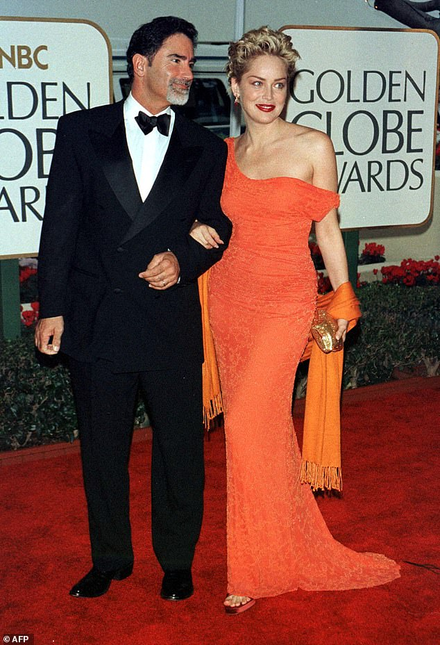 They lit up the red carpet: And Stone will discuss her second marriage to Phil Bronstein (1998 to 2004); seen in 1999