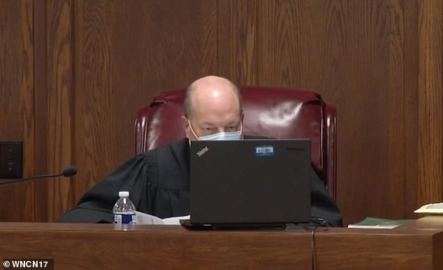 Sessoms appearing in front of a judge via video link on Tuesday morning
