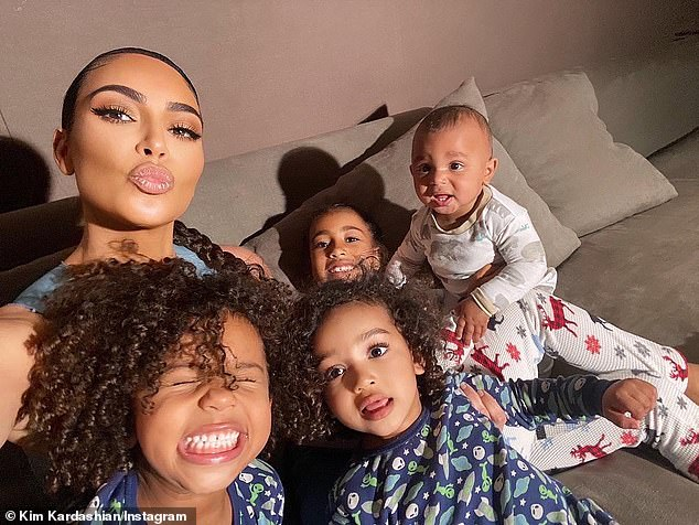 Their little ones:The two took off early last week with all four kids - North, seven, Saint, four, Chicago, two, and Psalm, one - and landed on Sunday in Miami