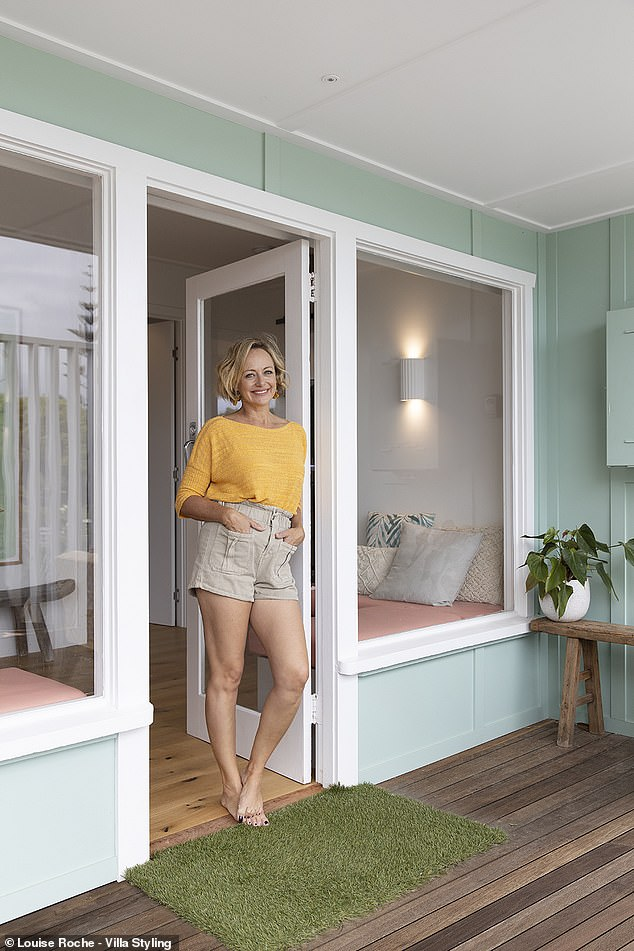 Makeover: The purchase comes after Shelley transformed another beach cottage in Byron Bay (pictured) earlier this year
