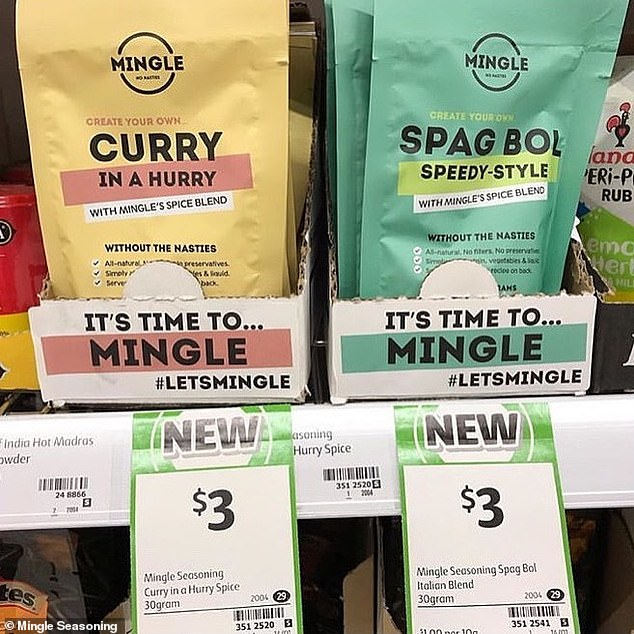 Curry in a hurry and spag bol speedy style were the first two spices Coles agreed to put on the shelves