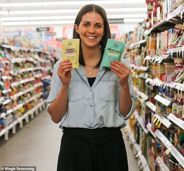 Jordyn Evans (pictured) saw four years of hard work validated in July when Coles' Herbs and Spice buyer Sioned Read approved her signature seasonings