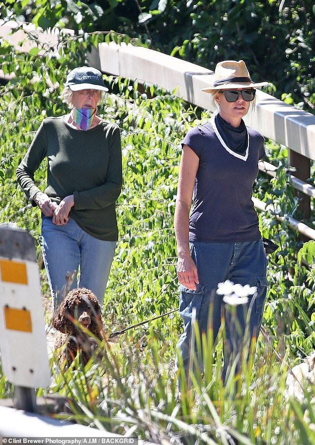The latest:Portia de Rossi, 47, who's the wife of talk show host Ellen DeGeneres, 62, was seen hiking with her mother Margaret and her dogs Sunday in Santa Barbara, California
