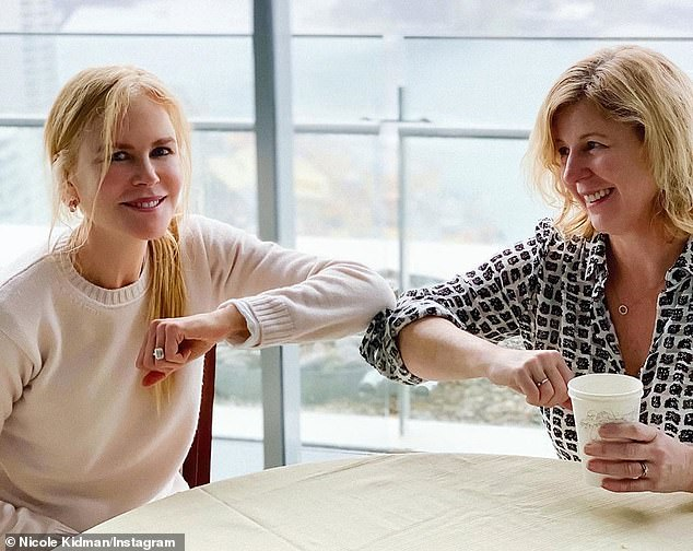 From the pages to the screen: Nine Perfect Strangers is based on Liane Moriarty's bestselling book.The limited series is being produced by Nicole's co-production company Blossom Films. Nicole pictured withLiane