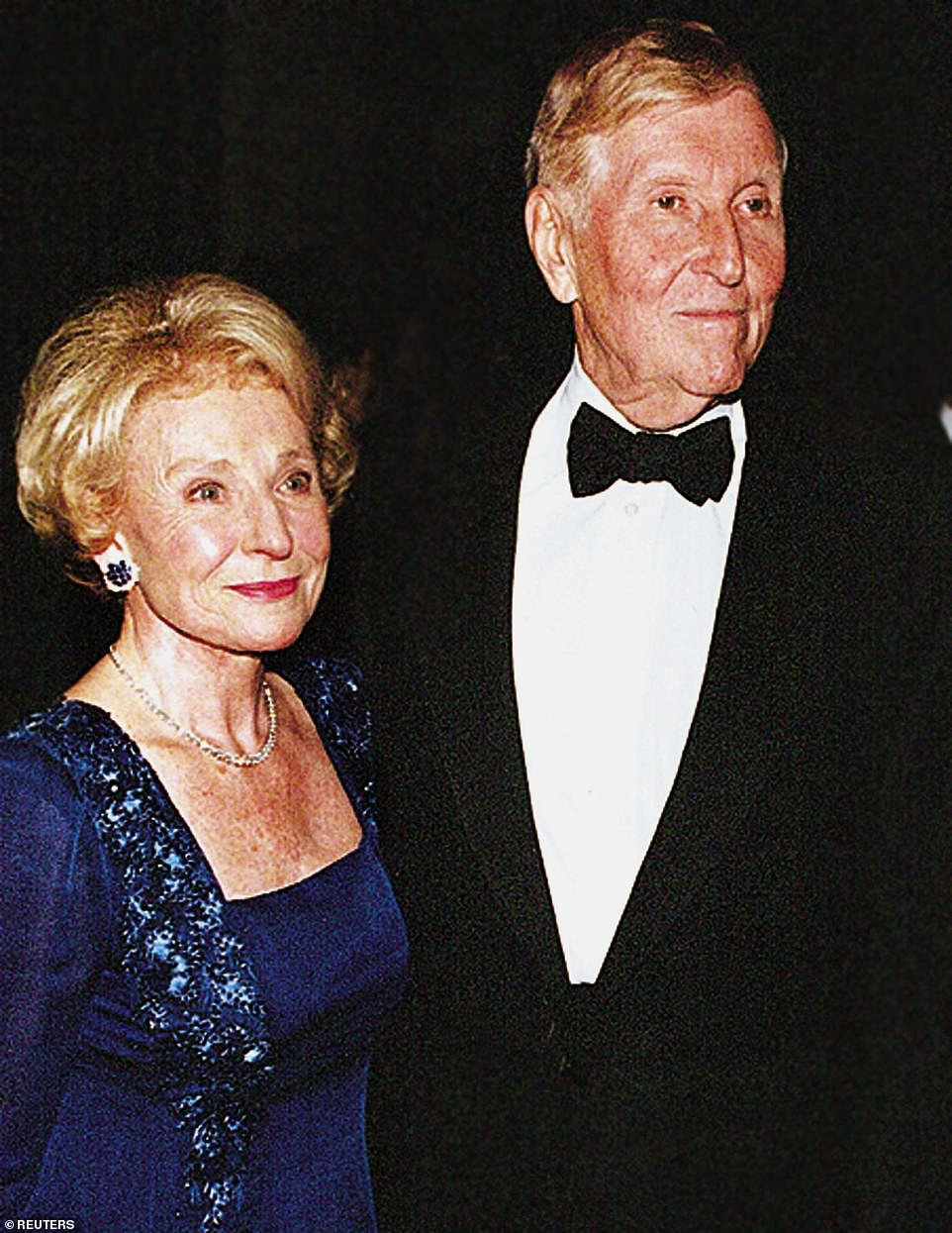 Sumner Redstone is seen in 1998 with his first wife Phyllis. She filed for divorce after 52 years of marriage and sought $3 billion according to her attorney