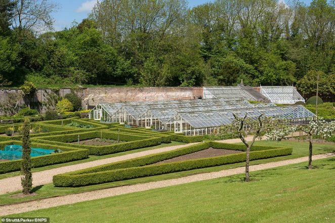 James Mackenzie, from Strutt & Parker, said: 'Ston Easton park is one of Somerset's most iconic country houses.' Pictured: Part of the house's gardens