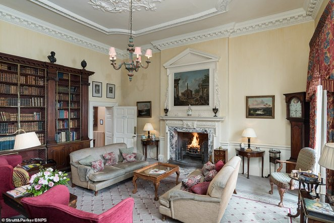 Ston Easton Park is a stunning Grade I listed property with Grade II listed gardens designed by 18th century landscape gardener Humphry Repton. Pictured: Another one of the property's reception rooms