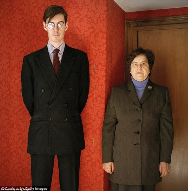 The current leader of the House of Commons talks openly about how his nanny Veronica Crook (pictured together) - who joined the family before Rees-Mogg was born in 1965 so likely lived with them in Ston Easton - made him the man that he is today
