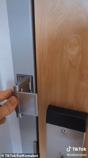 She also highlights the importance of locking the doors - including the top lock