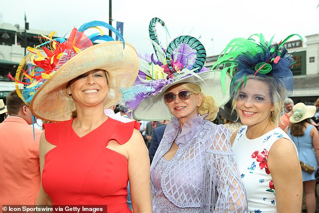 Fancy hats were on display at the 145th running of the Kentucky Derby at Churchill Downs on May 4th, 2019 in Louisville, Kentucky. This will not be the atmosphere on Saturday in Louisville