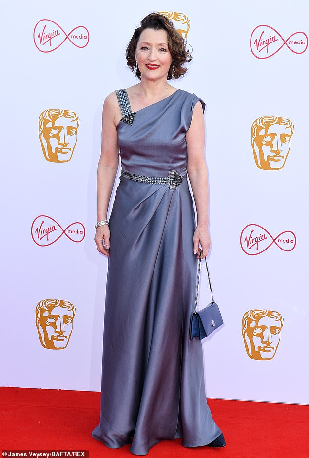Passing the baton: Helena said she thinks Lesley will have 'a great time with her' as 'she¿s a great actress' (Lesley is pictured at the British Academy Television Awards in May 2019)