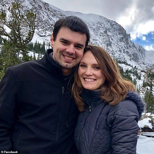 Marilane Carter, 36, (pictured with her husband Adam) vanished while travelling from her home in Overland Park, Kansas, to Birmingham, Alabama, to seek treatment for anxiety and to visit family